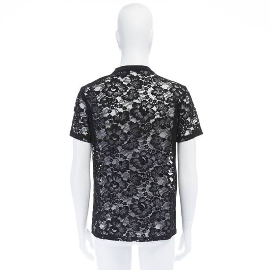 Givenchy GIVENCHY TISCI black sheer lace Pervert 17 patched football jersey top IT38 M Size US M / EU 48-50 / 2 - 4