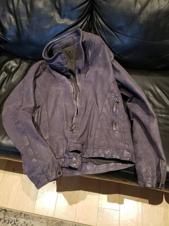 Julius AW12 Moldable Jut Neck Leather Jacket NEW Size US L / EU 52-54 / 3 - 7