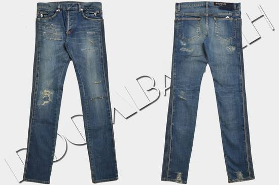 Balmain Distressed Slim Fit Skinny Blue Jeans Size US 28 / EU 44 - 1