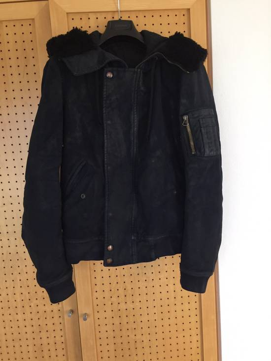 Balmain Decarnin Era Waxed Bomber Jacket Size US L / EU 52-54 / 3 - 1