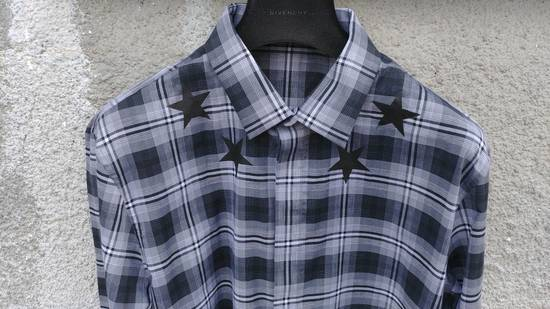 Givenchy $520 Givenchy Star Print Checked Rottweiler Shark Slim Fit Men's Shirt size 43 (L / XL) Size US L / EU 52-54 / 3 - 6