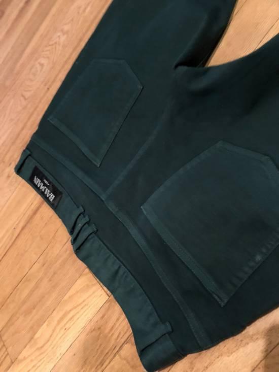 Balmain Balmain Biker Jeans Green Cotton Size US 31 - 4