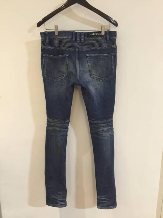 Balmain Classic Blue Denim BIKER RARE Jeans Size US 28 / EU 44 - 3