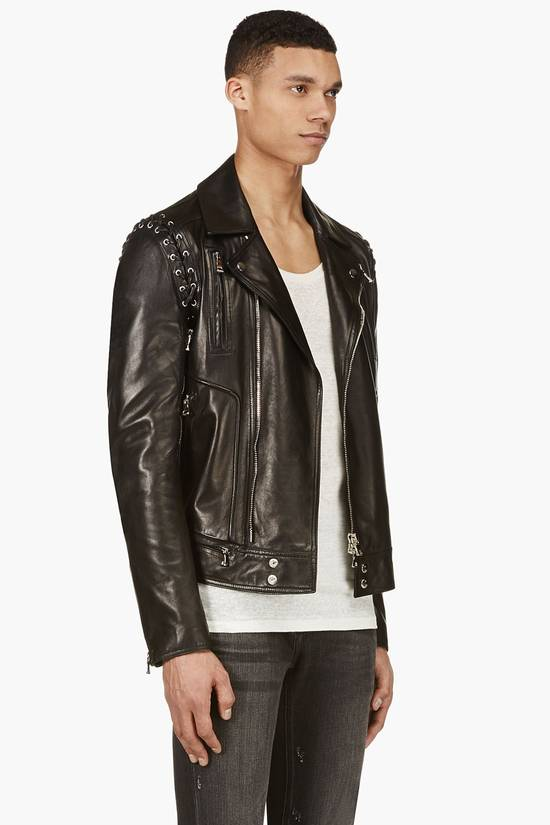 Balmain Sz 44 New Lambskin Biker Leather Jacket Size US XS / EU 42 / 0 - 3