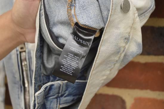 Balmain Light Blue Distressed Denim Jacket Size US XL / EU 56 / 4 - 8