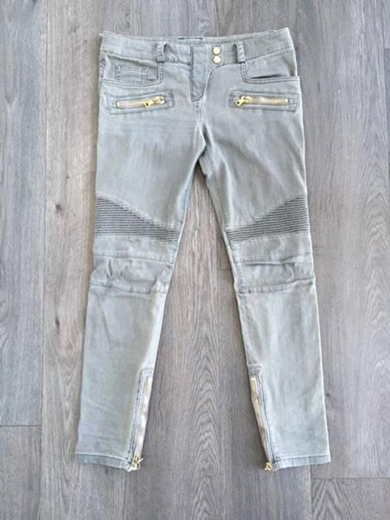 Balmain Stretch Denim Cotton Biker Jeans Size US 26 / EU 42 - 10