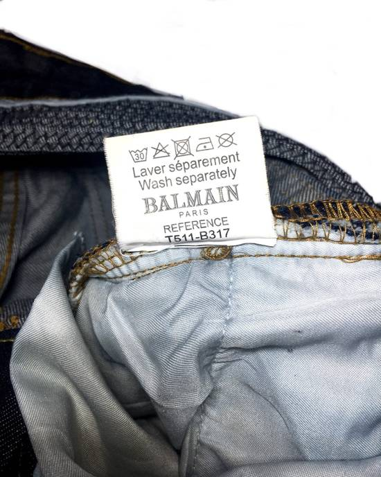 Balmain BALMAIN DISTRESSED BIKER JEANS. REFERENCE MODEL T511-B317 Size US 30 / EU 46 - 6
