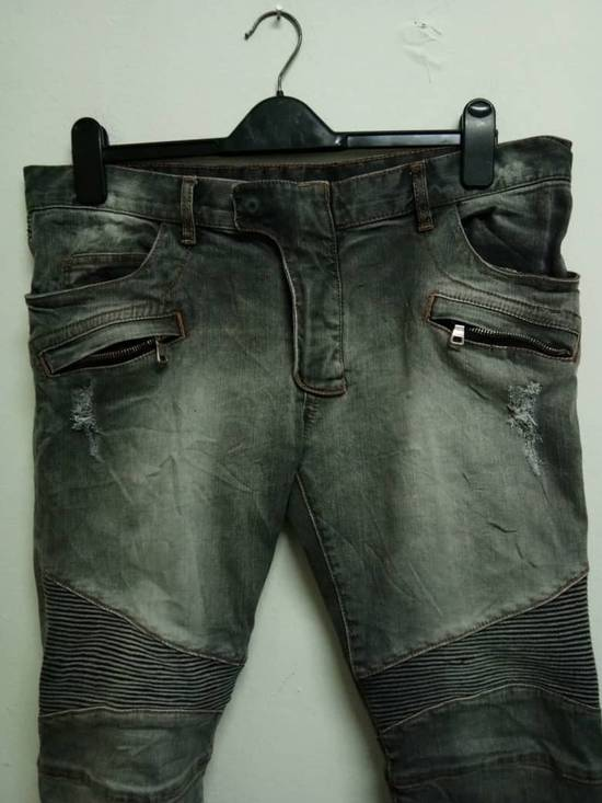 Balmain Rare Grey Balmain Denim Nice Faded Design Size US 36 / EU 52 - 2
