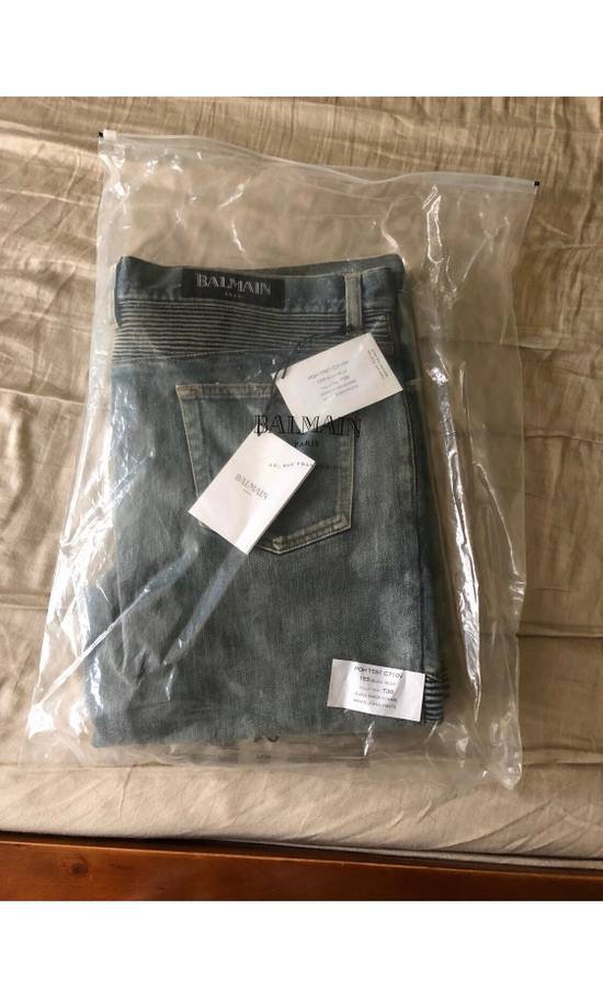 Balmain Blue Distressed Biker Jeans Size US 38 / EU 54 - 6