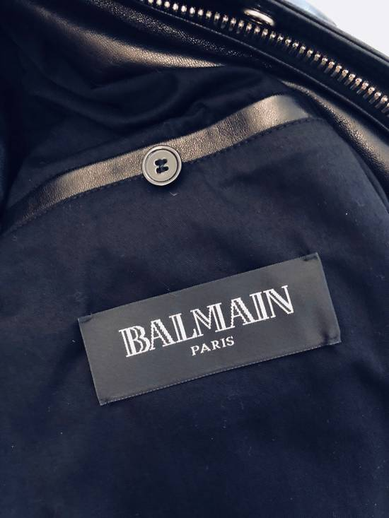 Balmain Full Leather Bomber Jacket Size US M / EU 48-50 / 2 - 3