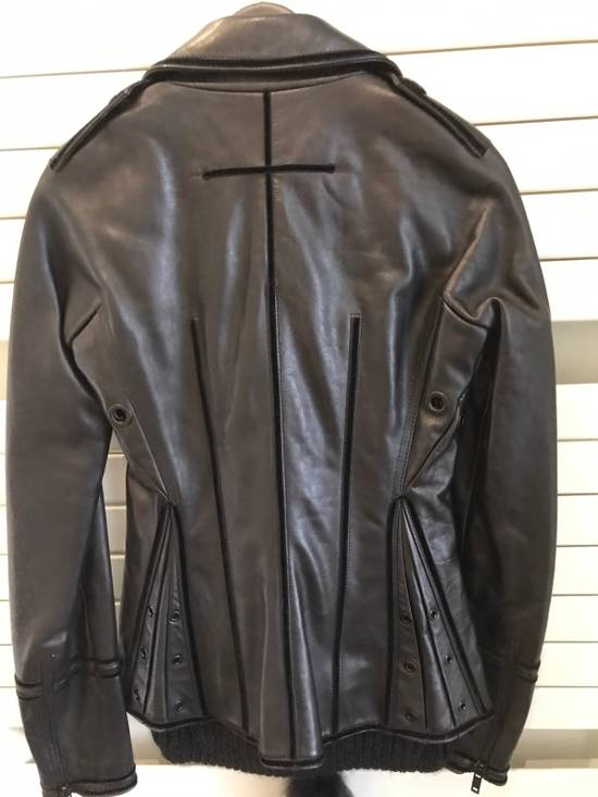 Givenchy Women Leather Biker Jacket Size US XXS / EU 40 - 3