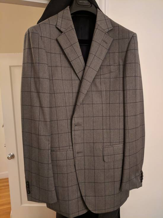 Spier And Mackay Grey Windowpane VBC Slim Suit Size 42R - 2
