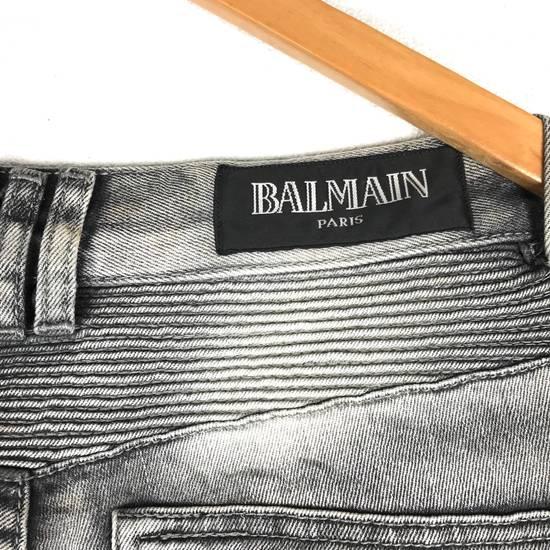 Balmain Rare! Distressed Balmain Biker Denim Jean Trouser Skinny Luxury Designer Size US 32 / EU 48 - 8