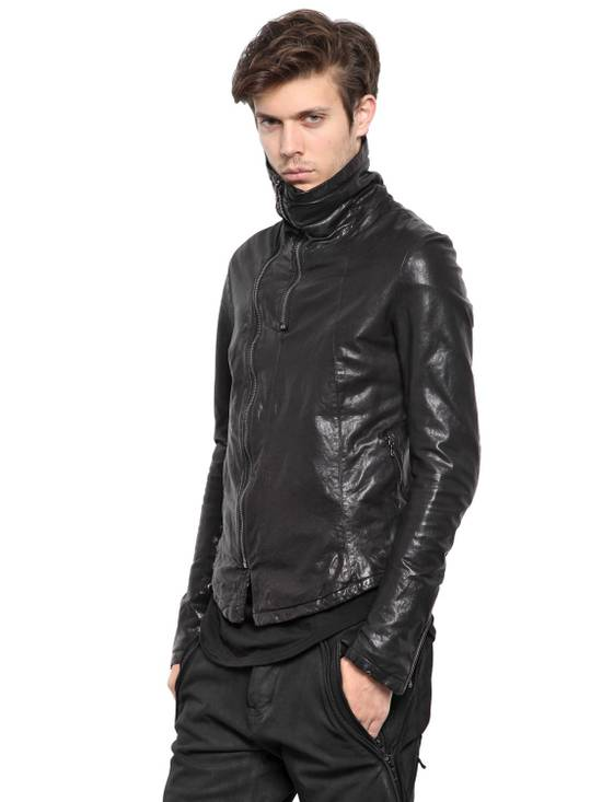 Julius JULIUS _7 ma high neck black lamb biker jacket slim fit Japan Size US S / EU 44-46 / 1 - 4