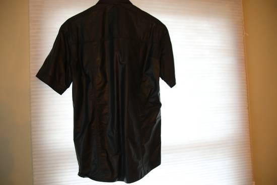 Balmain Balmain mens leather short sleeve shirt in sz 41 Size US M / EU 48-50 / 2 - 7