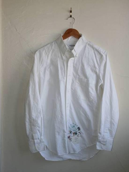 Thom Browne Thom Browne Embroidered Oxford Shirt Size US M / EU 48-50 / 2