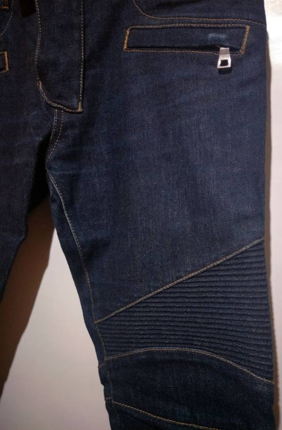 Balmain Vintage Balmain Paris Biker Blue Jeans Like New Size US 31 - 2