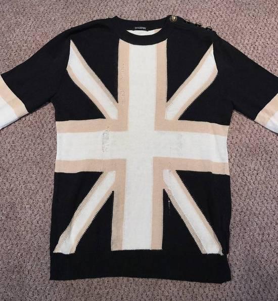 Balmain Union Jack Sweater beige/blk Size US XL / EU 56 / 4 - 1
