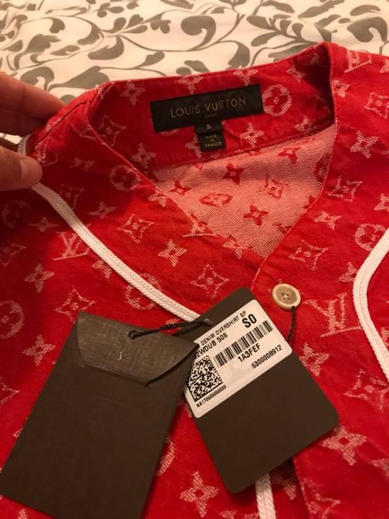 Supreme Louis Vuitton Supreme Red Denim Baseball Jersey Size US S / EU 44-46 / 1 - 5