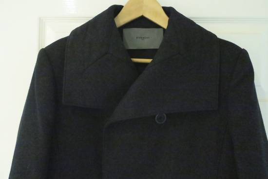 Givenchy BLACK WOOL DOUBLE BREASTED PEA COAT Size US M / EU 48-50 / 2 - 3