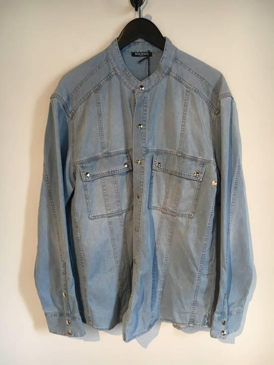 Balmain Balmain Mao Collar Denim Shirt Size US XXL / EU 58 / 5 - 1
