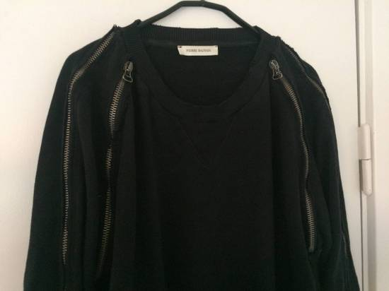 Balmain distressed asymmetrick zip sweatshirt Size US XL / EU 56 / 4 - 1