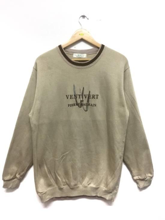 Balmain ⚡️Final Drop Got Delete Today⚡️Pierre Balmain Vent Vert Embroidered Spellout Sweatshirt Size US M / EU 48-50 / 2