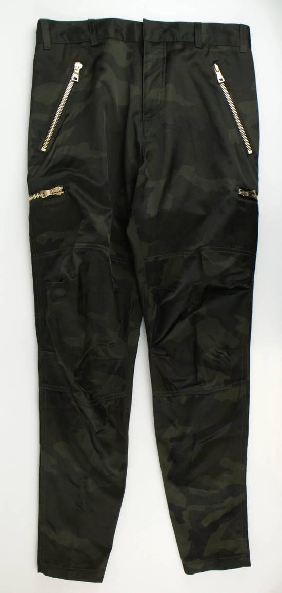 Balmain Men's Green Cotton Blend Camouflage Biker Pants Size L Size US 36 / EU 52 - 2