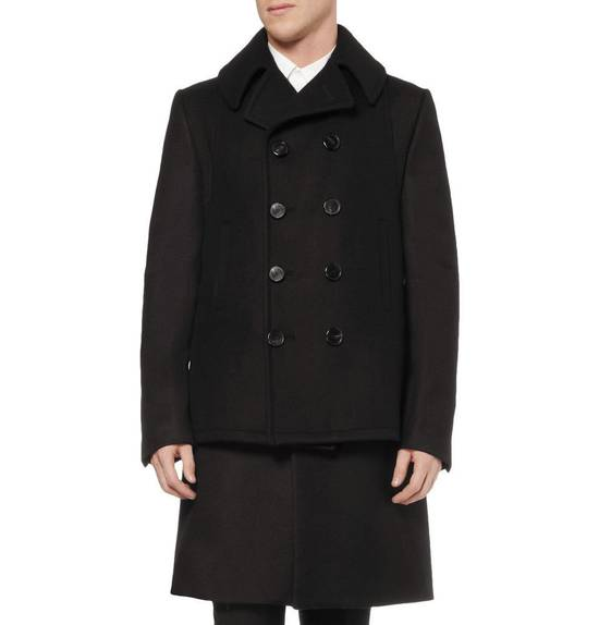 Givenchy FW12 Two Piece Black Wool Peacoat sz 48 double layer coat Riccardo Tisci Size US M / EU 48-50 / 2 - 1