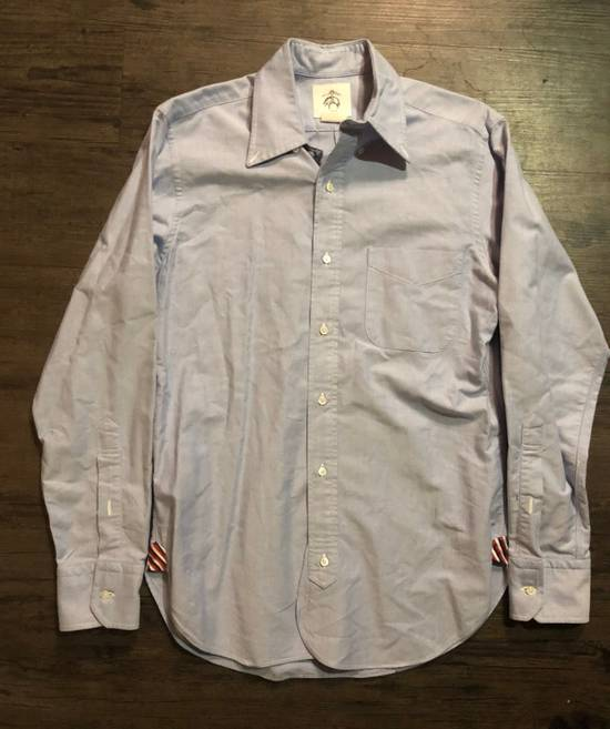 Thom Browne BLUE OXFORD BUTTON UP SHIRT Size US M / EU 48-50 / 2