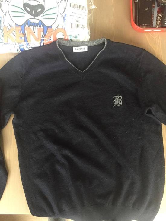 Balmain Balmain Navy Sweater With B Logo Size US XS / EU 42 / 0