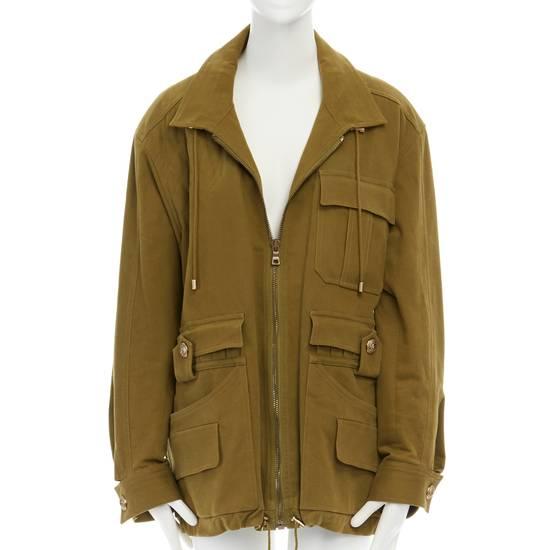 Balmain BALMAIN Pre14 army green stretch military zip up oversized jacket FR40 US8 UK12 Size US M / EU 48-50 / 2