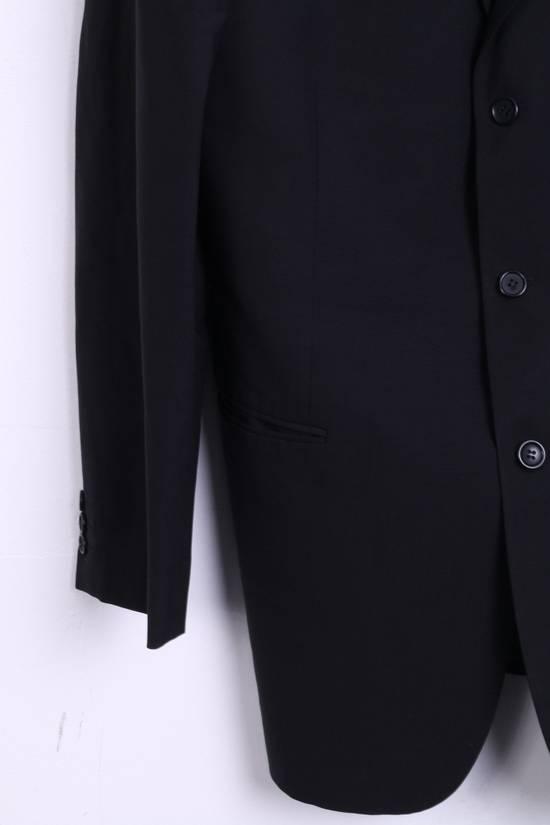 Balmain BALMAIN Paris Mens 46 Blazer Top Suit Black Regular Wool Single Breasted 6860 Size 46R - 2