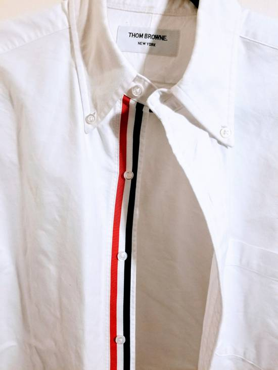 Thom Browne Classic Long Sleeve Button Down with Stripe Detail Size US M / EU 48-50 / 2
