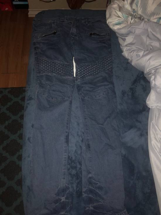 Balmain Crosshatch biker jeans Size US 34 / EU 50 - 1