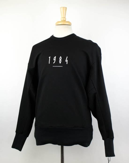 Julius 7 Men's Black Cotton '1984' Crewneck Sweater Size 3/M Size US M / EU 48-50 / 2 - 1