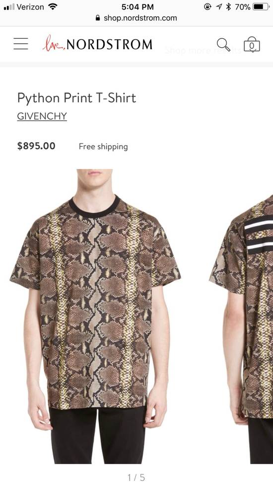 Givenchy Snakeskin Print Cotton T-Shirt Size US XL / EU 56 / 4 - 8
