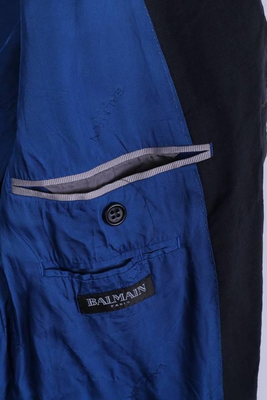 Balmain Balmain Mens 40 M Jacket Navy Wool Single Breasted Blazer 4515 Size 40R - 4