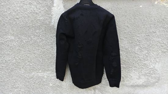 Givenchy $1300 Givenchy Black Destroyed Distressed Logo Rottweiler Shark Sweater size S Size US S / EU 44-46 / 1 - 8