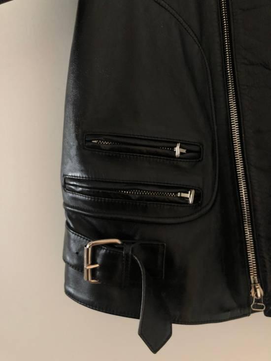 Balmain Black Horse Leather Double Rider Jacket Size US L / EU 52-54 / 3 - 2