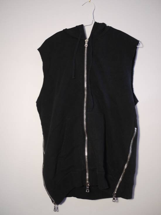 Balmain Balmain Black Sleeveless Zip Up Hoodie Size US L / EU 52-54 / 3