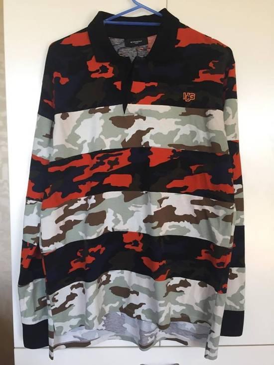 Givenchy Camo Long Sleeve Polo Size US S / EU 44-46 / 1