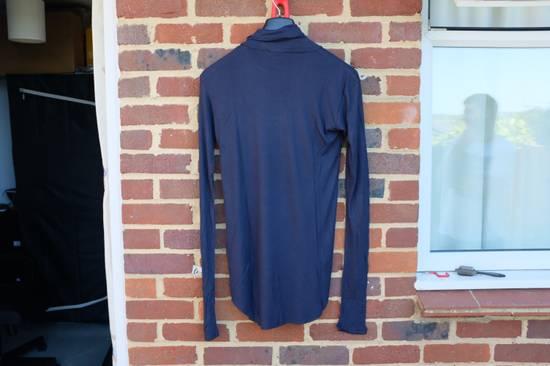 Balmain Blue Ribbed Knit Roll Neck T-shirt Size US M / EU 48-50 / 2 - 7