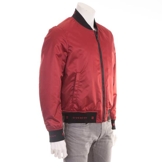 Givenchy Dark Red Nylon Givenchy Paris 4G Bomber Jacket Size US M / EU 48-50 / 2 - 7