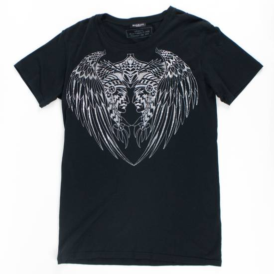 Balmain Black/Silver Cotton Short Sleeve Metallic T-Shirt Size M Size US M / EU 48-50 / 2