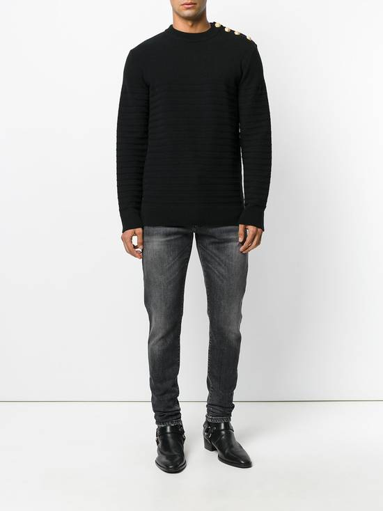 Balmain Black Stonewashed Jeans Size US 30 / EU 46 - 3
