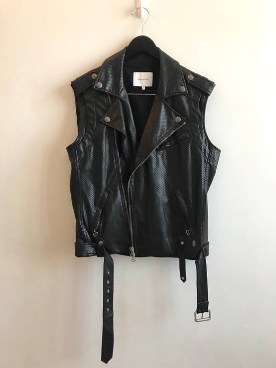 Balmain $1200 Last Drop Before Delete Perforated Eco Leather Vest Black Size US M / EU 48-50 / 2 - 2