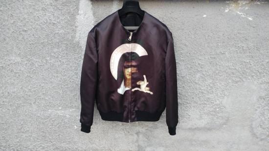 Givenchy $2850 Givenchy Madonna and Baby Jesus Satin Purple Bomber Jacket size 50 Size US M / EU 48-50 / 2