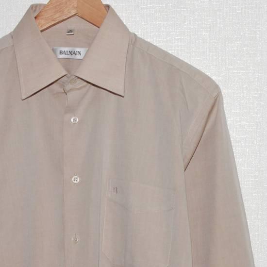 Balmain Vintage Balmain Paris Men's Longsleeve Button Shirt Beige Size M L 39 40 Cotton Size US M / EU 48-50 / 2