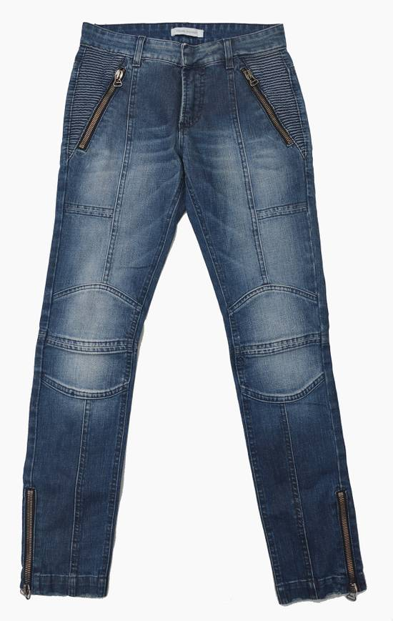 Balmain Coated Blue Moto jeans Size US 29 - 1